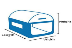 Transport bag dimensions