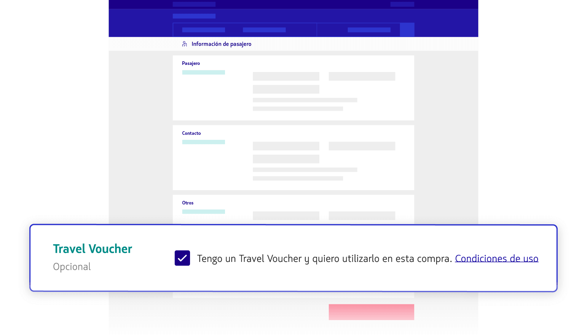 Usar Travel Voucher en la compra