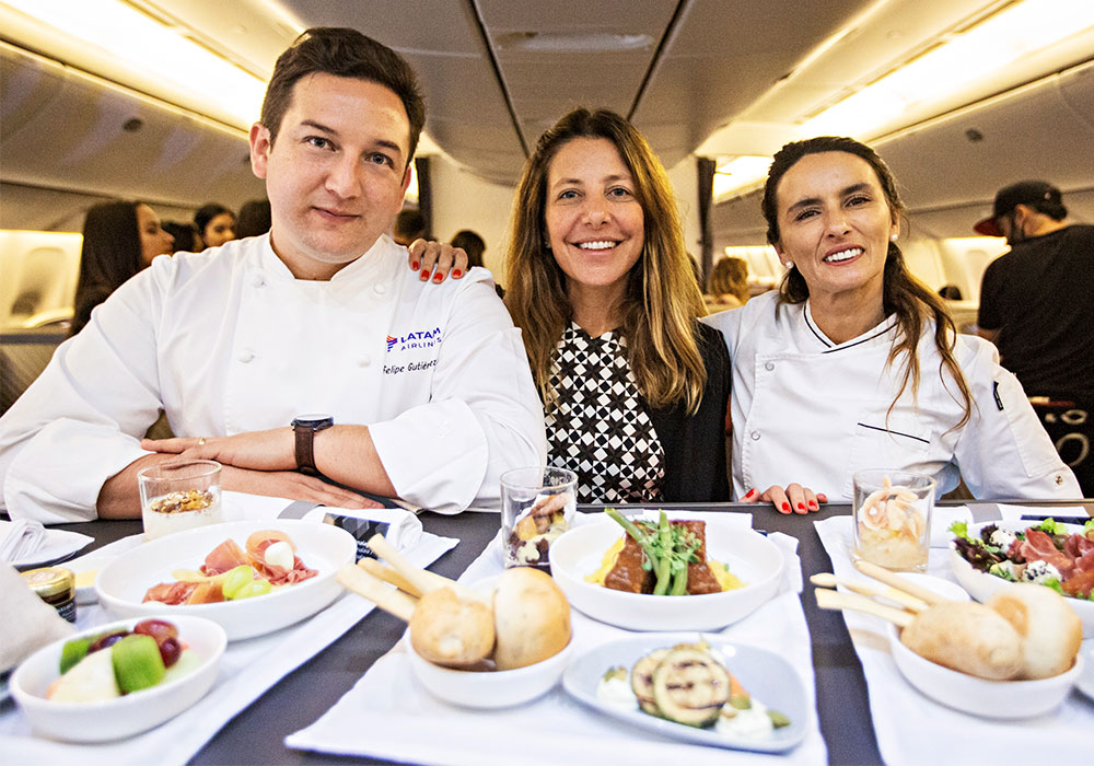 How is the in-flight menu created?